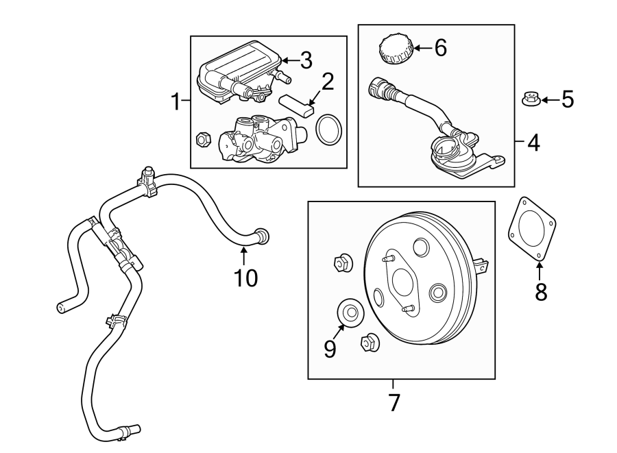Ford Fiesta Brake Vacuum Hose. From 03/17/2016, auto trans
