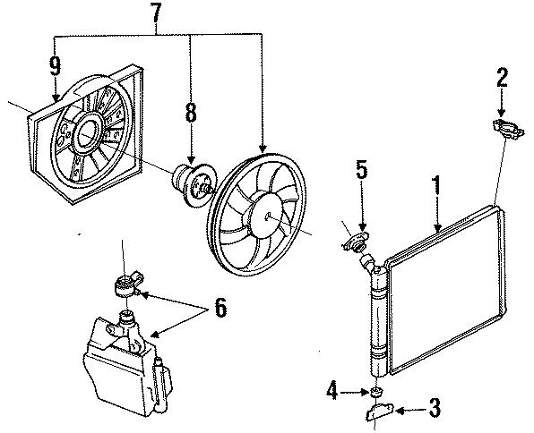 Mercury Tracer Radiator Cap. COOLING, LITER, FAN