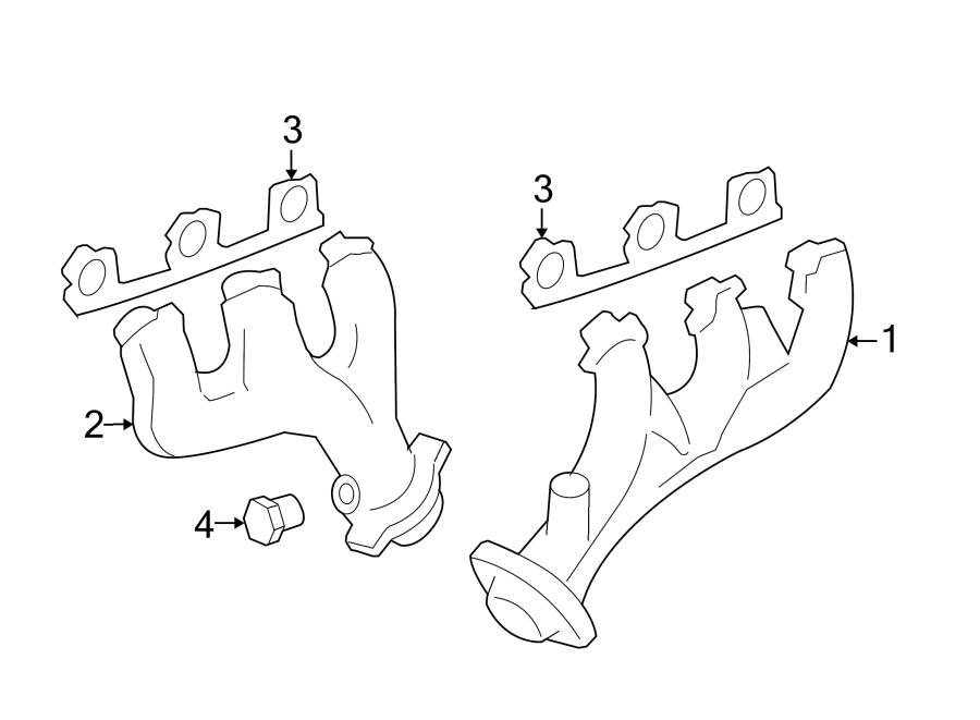 Mercury Mountaineer Exhaust Manifold. LITER, Left