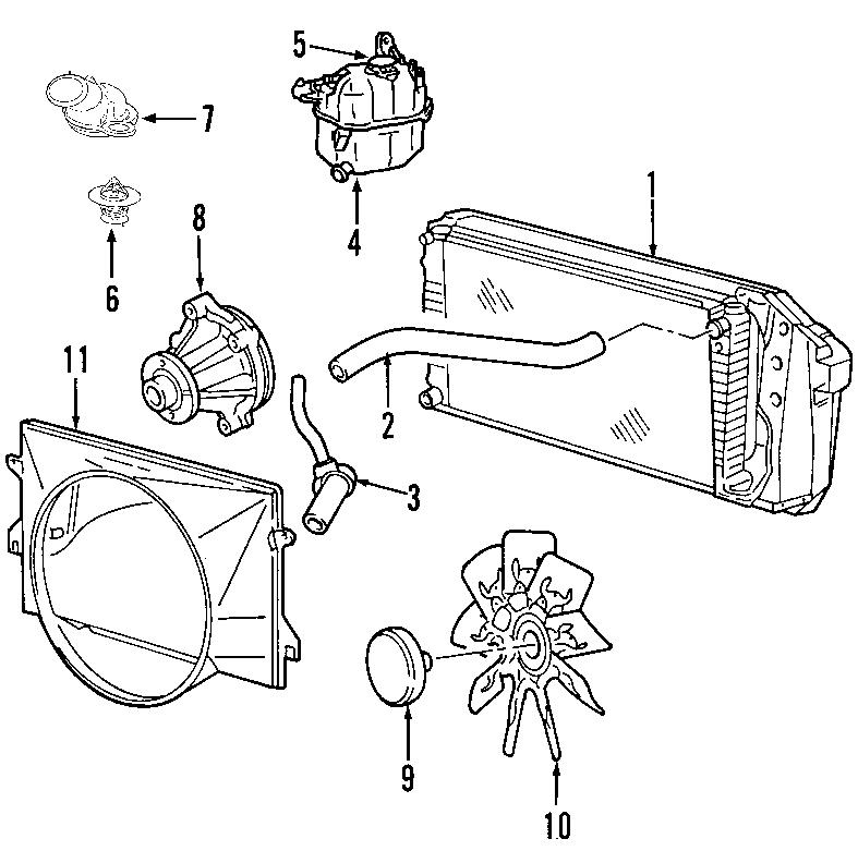 Ford F-150 Radiator Coolant Hose. 4.2 LITER. F150, MARK LT