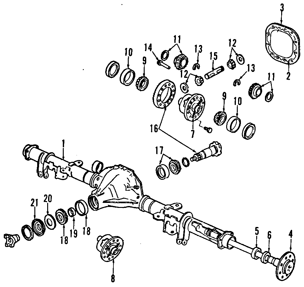 Ford Aerostar Differential Pinion Seal. Axle, Gear, REAR