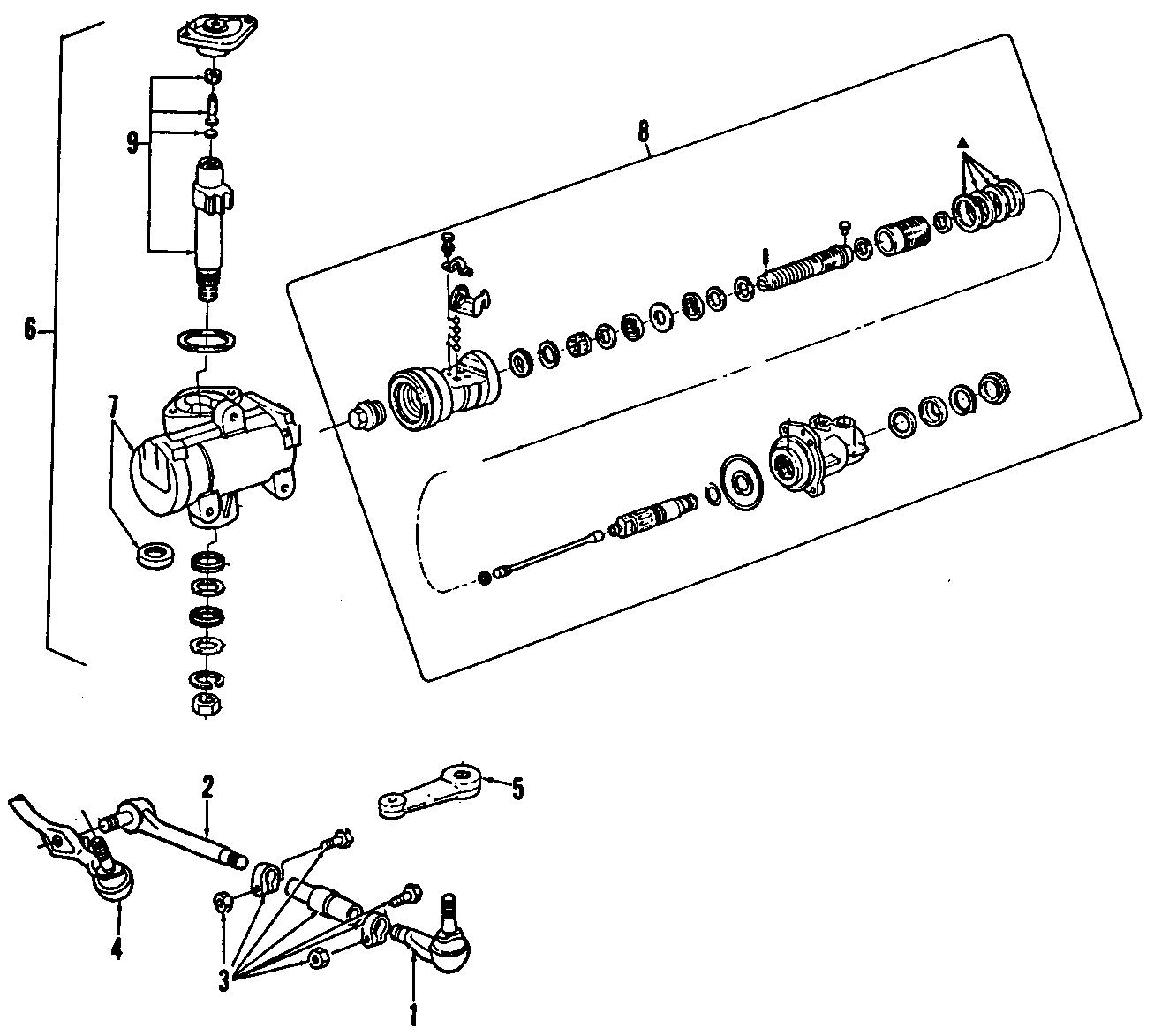 Ford Bronco II Steering Gear Box. POWER, Vans, Repair