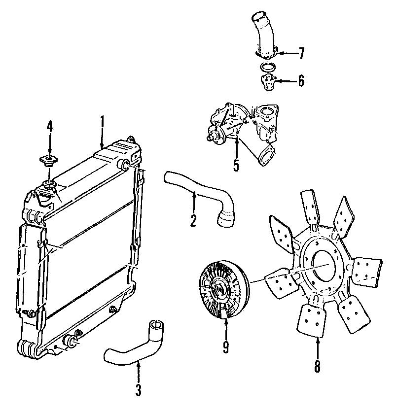Ford F-250 HD Cap. Radiator. Reservoir. WITH PRESSURE