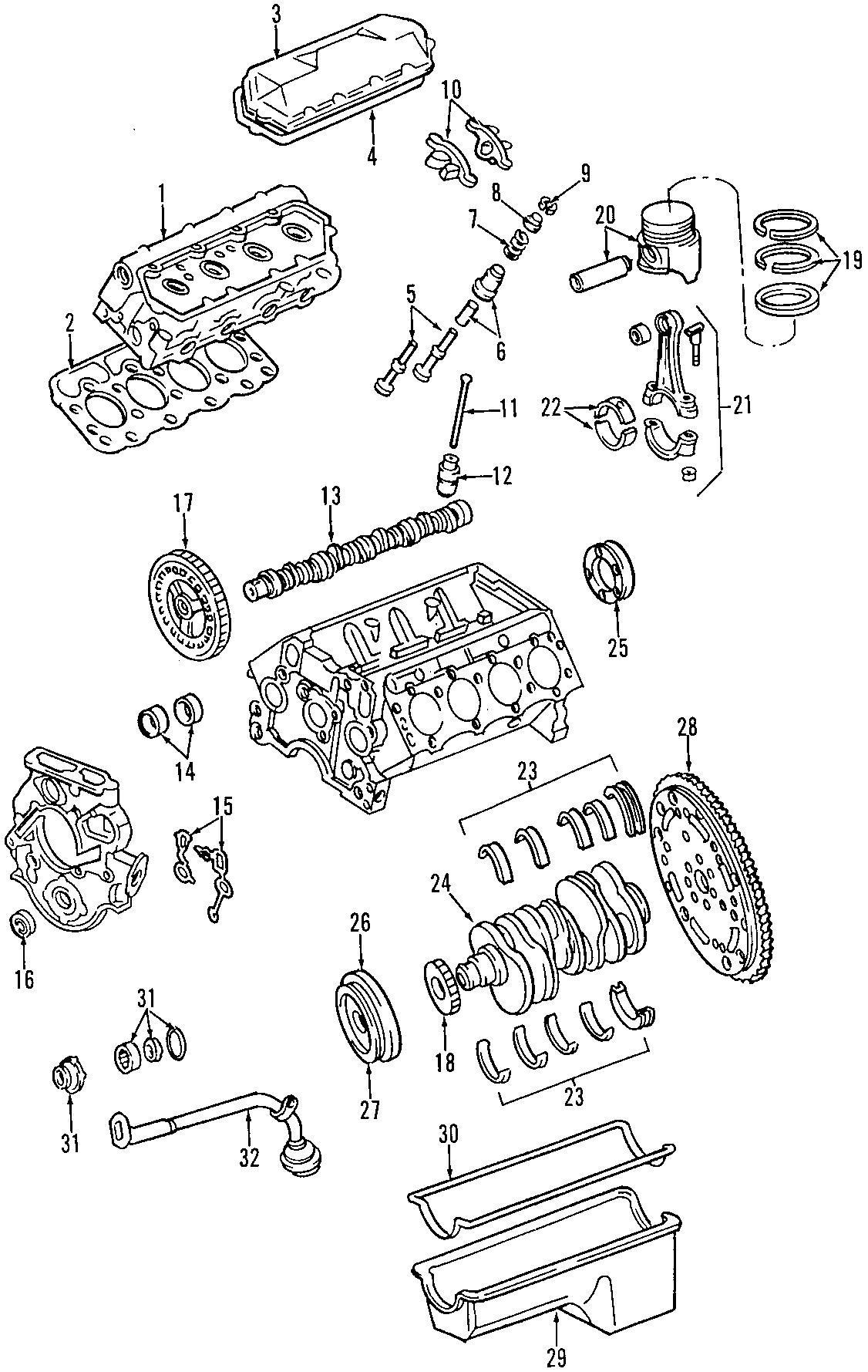 Ford E-350 Super Duty Engine Crankshaft Seal. 7.3 LITER