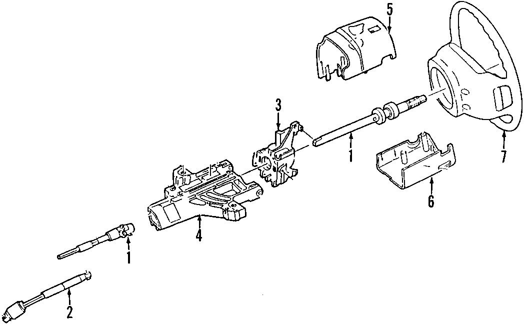 Ford Explorer Steering Shaft. 2002-05, 4.6 liter. Explorer