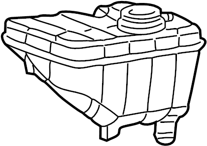 Mercury Grand Marquis Engine Coolant Reservoir
