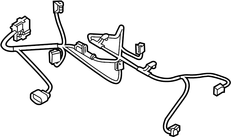 Ford Mustang Hvac system wiring harness. W/o dual zone ac