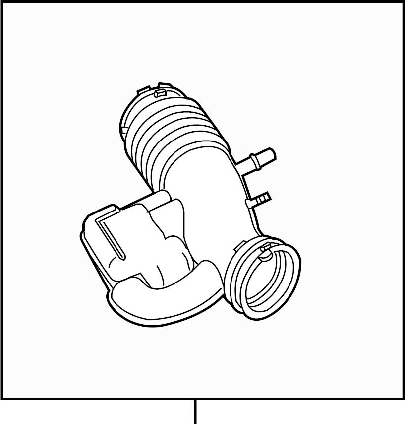 Ford Mustang Engine Air Intake Hose. 3.7 LITER, manual