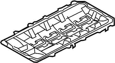 Ford Mustang Engine Oil Pan Gasket. 5.0 LITER. Mustang. W