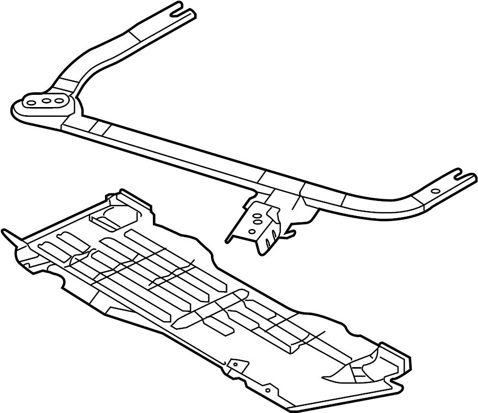Ford Mustang Radiator Support Splash Shield. SUPER, SHELBY