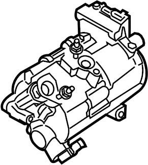 Ford Mustang A/c compressor. Trans, repair, manual