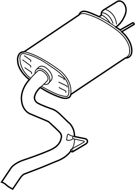 Ford Mustang Exhaust Muffler. 5.0 LITER, all. Mustang; 5