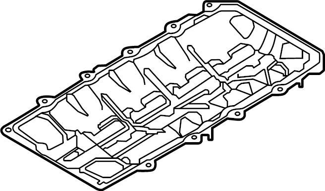 Ford Mustang Engine Oil Pan Gasket. 5.0 LITER. Mustang. W
