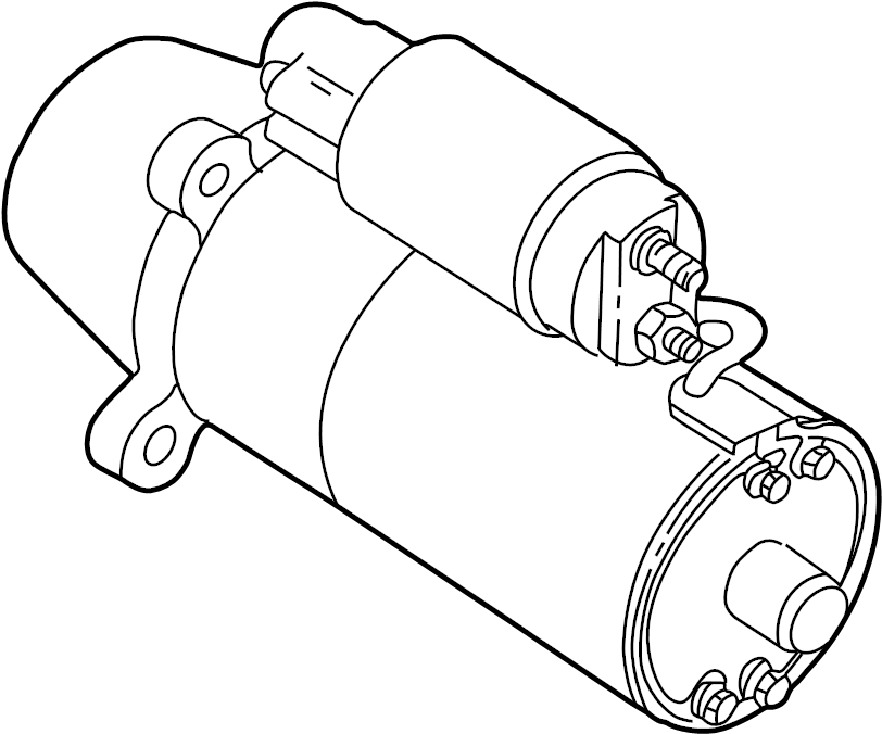 Mercury Mystique Starter Motor. Manual, Trans, Liter