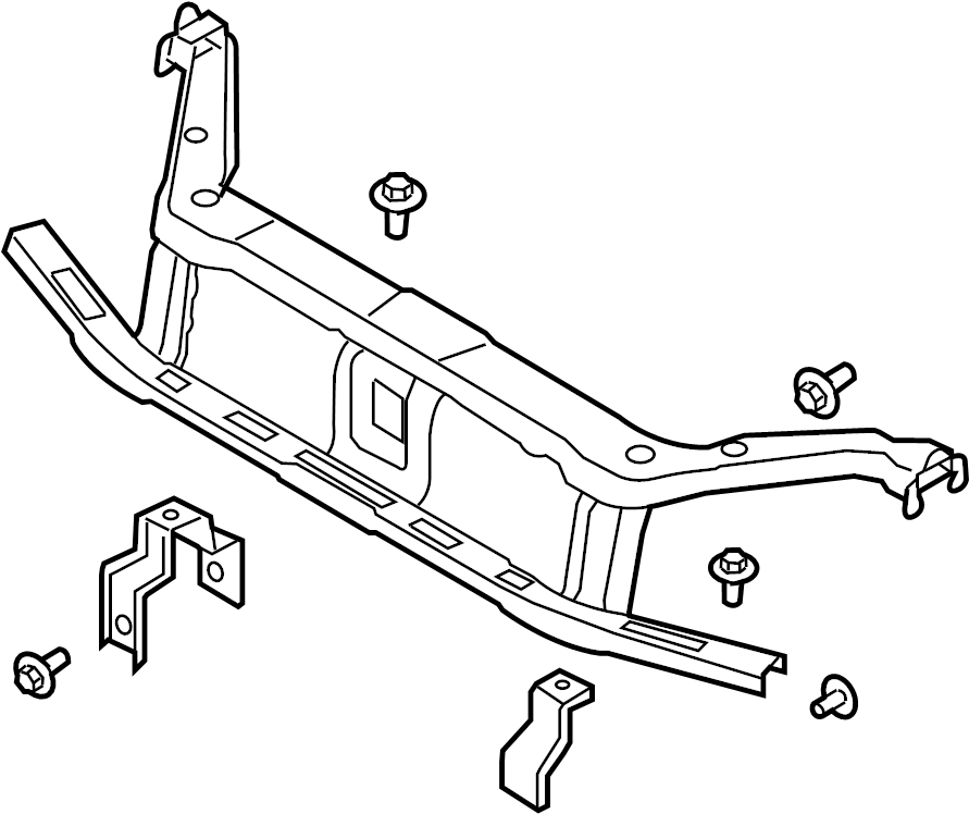 Ford Focus Radiator Support Panel (Front, Upper, Lower