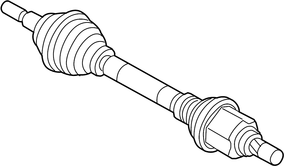 Ford Focus Cv axle assembly. Left, manual, trans