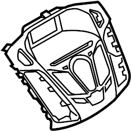 Ford Focus Instrument Panel Bezel. W/o nav, w/sync