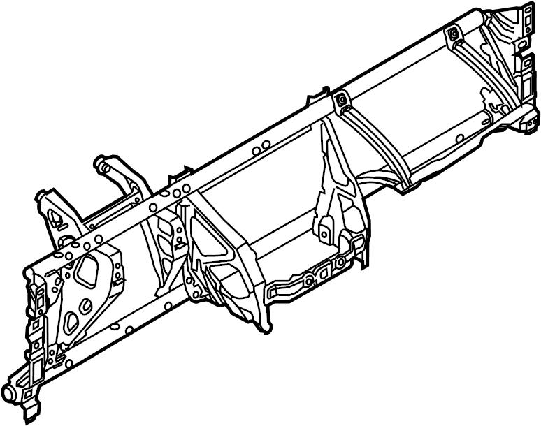 Ford Focus Instrument Panel Crossmember. Manual trans