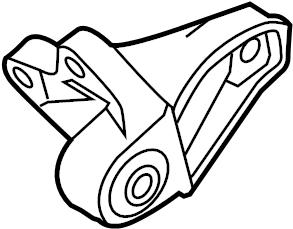 Ford Focus Manual Transmission Mount Bracket (Lower). 2.3