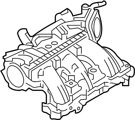 Ford Taurus Engine Intake Manifold. Upper, LITER