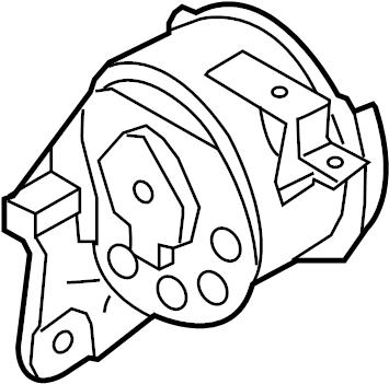 Mercury Milan Automatic Transmission Mount. ENGINE