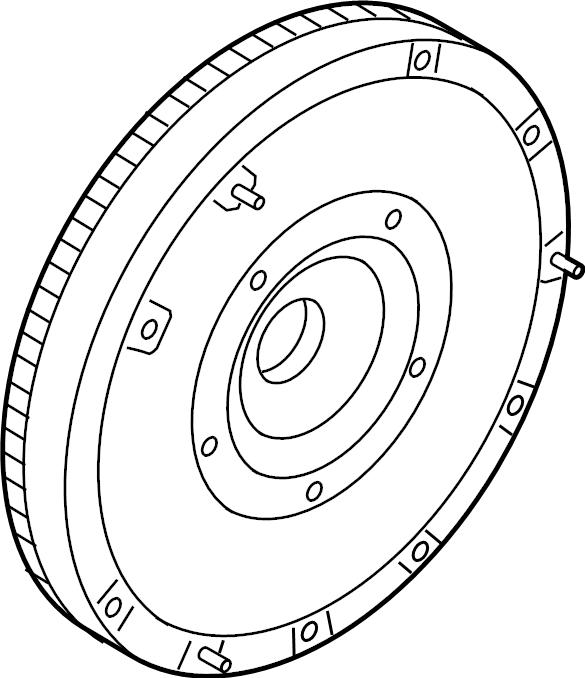 Ford Fusion Clutch Flywheel. 1.6 LITER, MANUAL TRANS