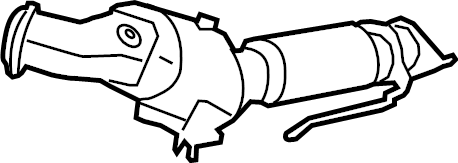 Ford Fusion Catalytic Converter. 1.6 LITER, W/MANUAL TRANS