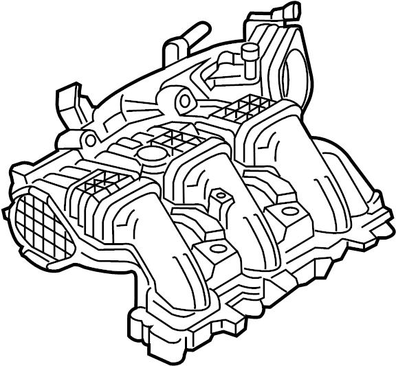 Lincoln MKX Engine Intake Manifold. Upper, LITER