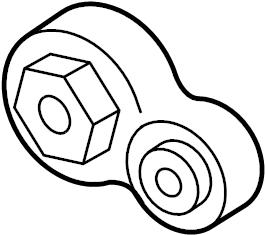Lincoln Continental Torque. Engine. Strut. Mount. 3.5