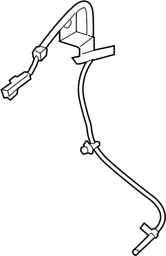 Lincoln Continental Abs wheel speed sensor (front