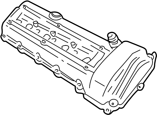 Lincoln LS Engine Valve Cover. 3.9 LITER. LS8; Left