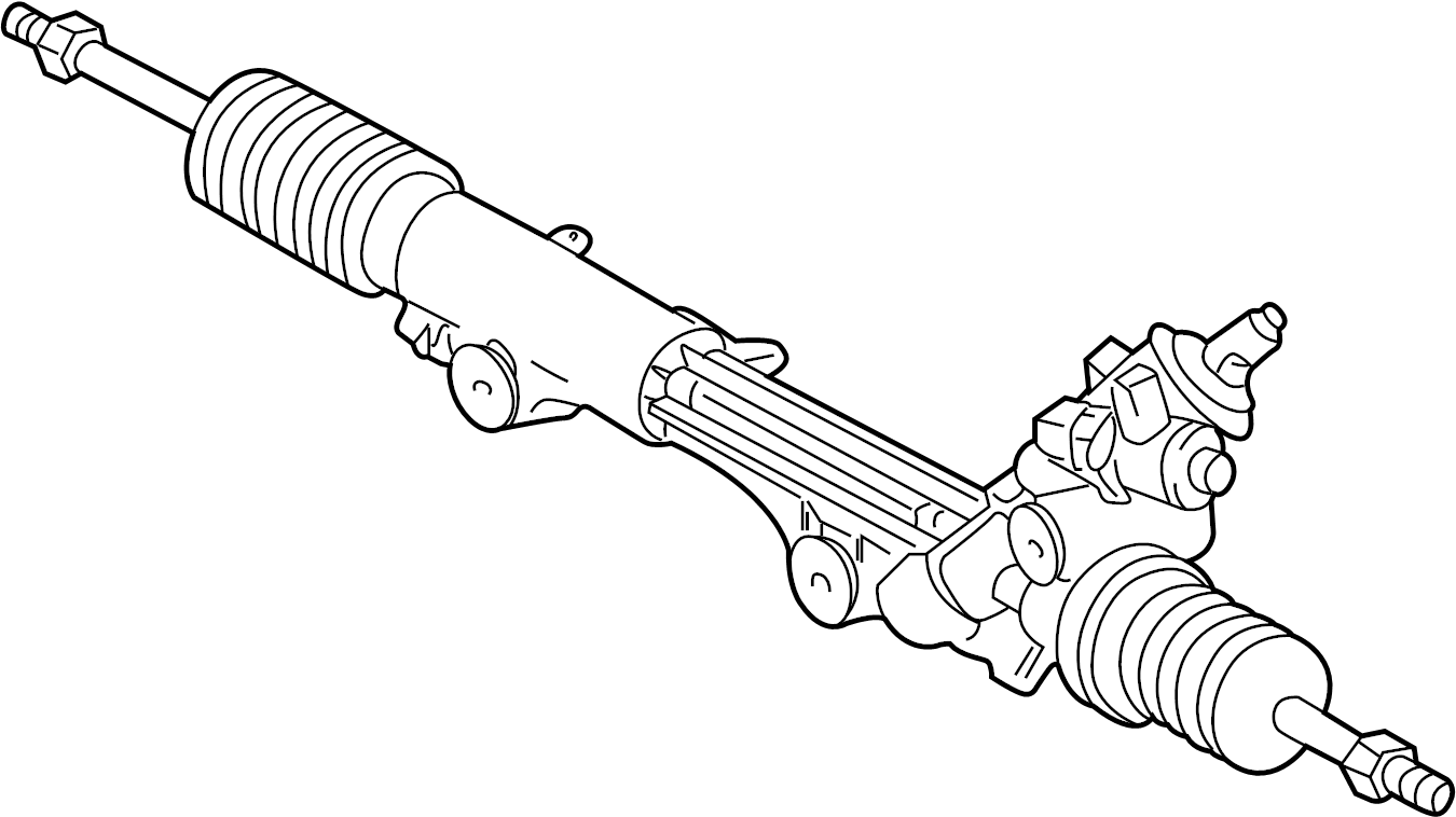 Lincoln LS Rack and Pinion Assembly. Steering, GEAR