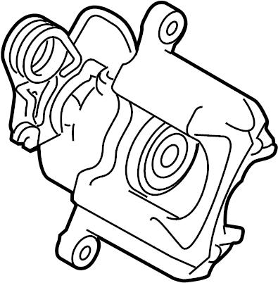 Lincoln MKS Disc Brake Caliper. Right, AWD, Brakes