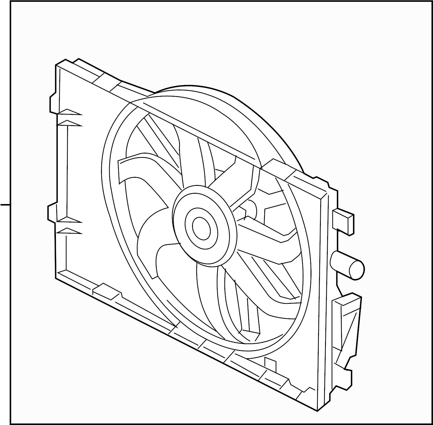Lincoln MKZ Engine Cooling Fan Assembly. RADIATOR, Hybrid