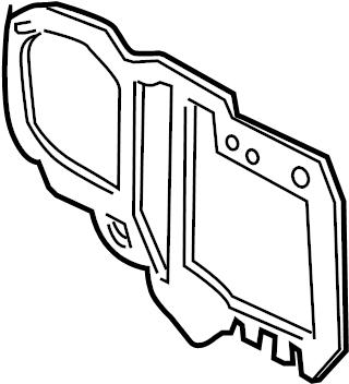 Mercury Grand Marquis Hvac case seal. To dash. Evaporator