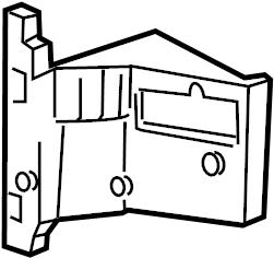 Mercury Grand Marquis Evaporator core insulator. HEATER