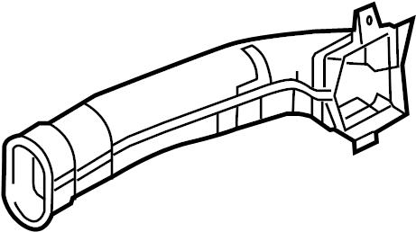 Mercury Grand Marquis Instrument Panel Air Duct. 1995-97