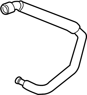 Ford Taurus Engine Coolant Overflow Hose. Lower, LITER