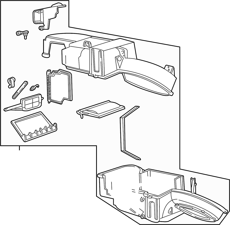 Mercury Sable Evaporator. Core. AIR CONDITIONING (A/C