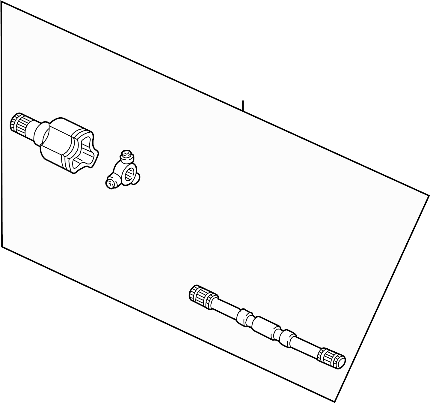 Mercury Sable Cv axle assembly. Right, axles, drive