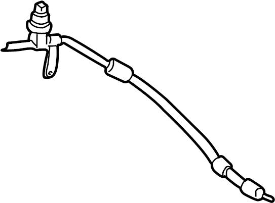 Ford Taurus Power Steering Pressure Hose. GEAR, DOHC