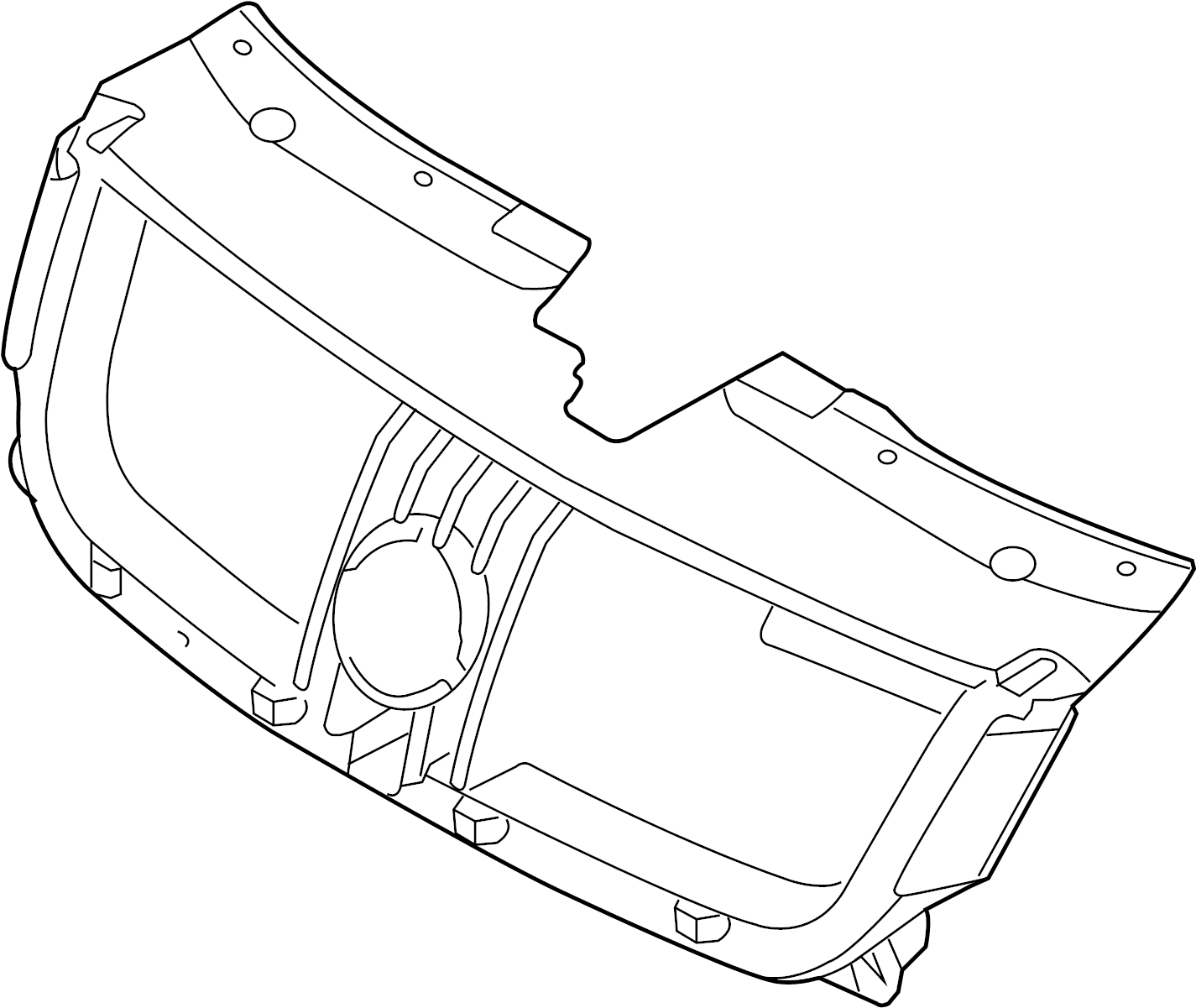 Mercury Sable Grille Molding Front Lower