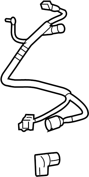 Lincoln Mark LT Trailer Brake Control Harness. 4-pin
