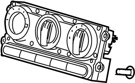 Ford F-150 Hvac temperature control panel. Rear, manual