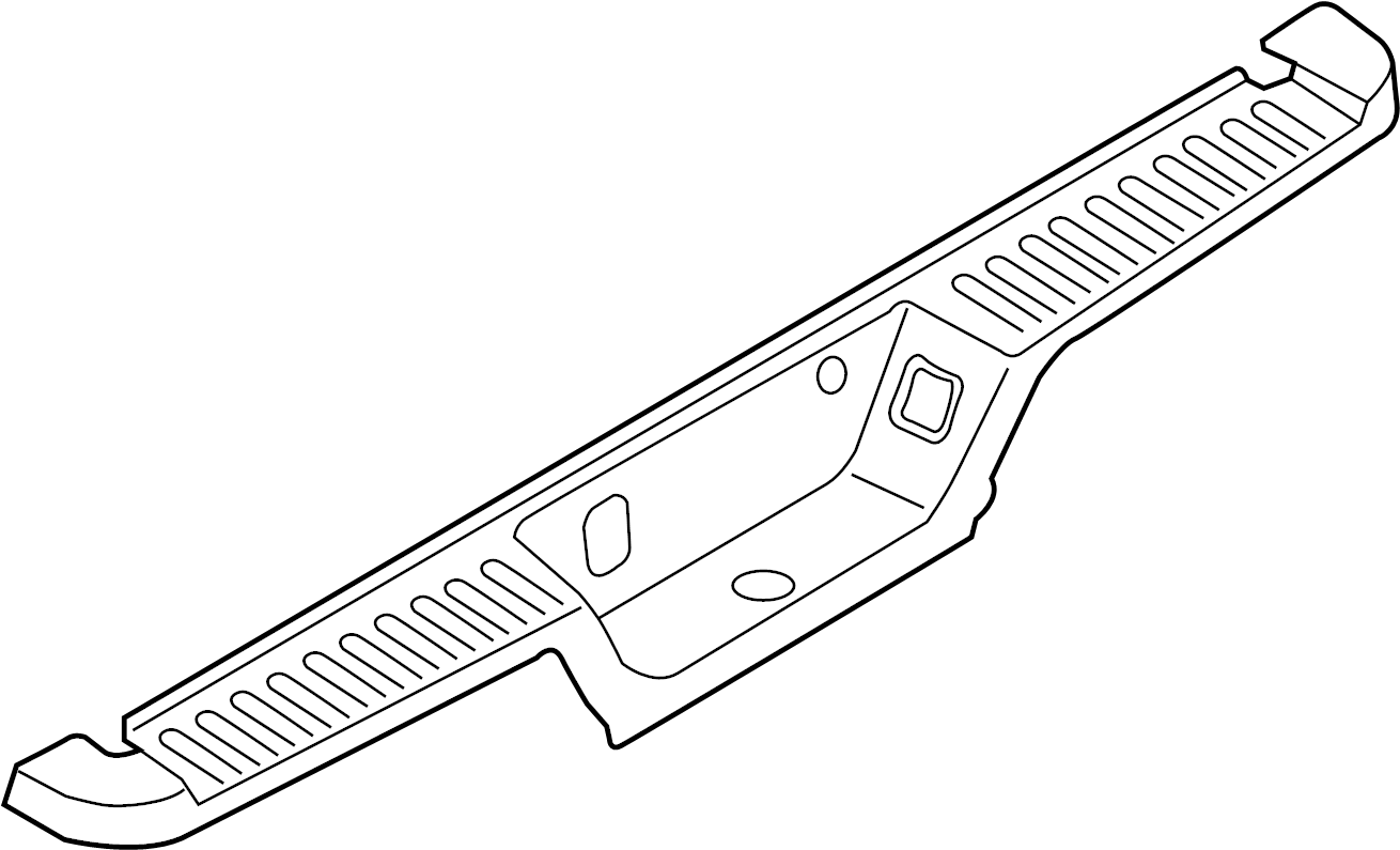 Ford F-150 Bumper Step Pad (Lower). W/o trailer tow