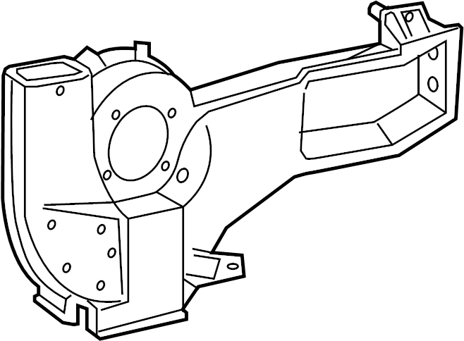 Ford E-350 Econoline Hvac unit case. Heater, component