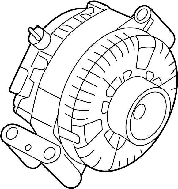Ford F-250 Super Duty Alternator. LITER, Dual, Battery