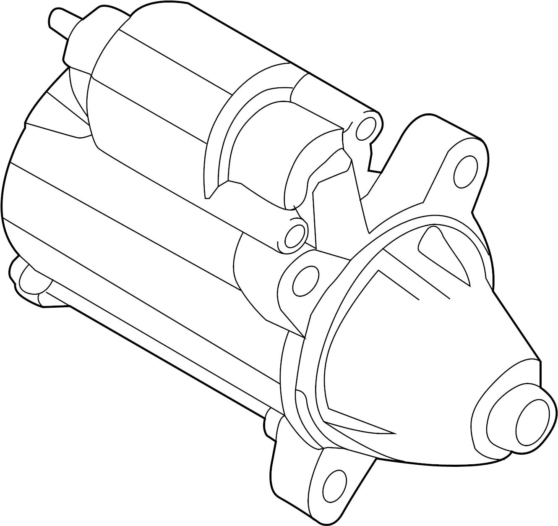 Ford Transit Connect Starter Motor. Starter Motor Assembly