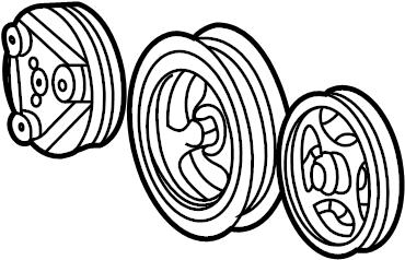 Ford E-350 Econoline Club Wagon Accessory Drive Belt
