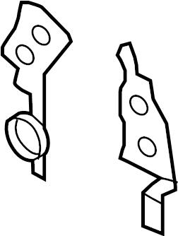 Ford F-350 Engine Timing Cover Gasket. DIESEL, LITER, Pick